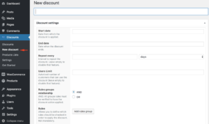 WooCommerce dynamic pricing - Discount settings