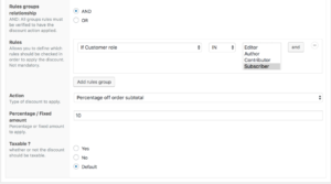 WooCommerce dynamic pricing - example 10