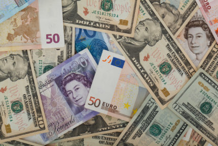 Different currencies of the world